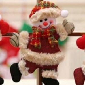Hand Crafted Frosty Snowman Christmas Ornament